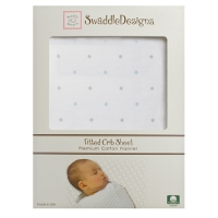 Простынка на резинке SwaddleDesigns Fitted Crib Sheet PB & Sterling Dot