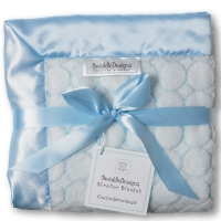 Плед SwaddleDesigns Stroller Blanket Pstl Blue Puff C