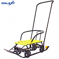 Снегомобиль Snow Galaxy Black Auto желтые рейки