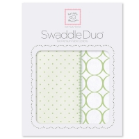 Пеленки SwaddleDesigns Duo KW Dot/Mod Circle