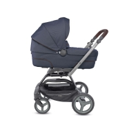 Коляска 4 в 1 Inglesina Quad System на шасси Quad Titanium Black Coffee Oxford Blue