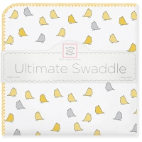 Пеленка Swaddle Designs Lt. Chickies Птички желтые