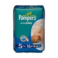 Подгузники Pampers Active Baby Стандарт 5 (11-18 кг) 16 шт.