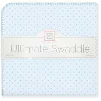 Пеленки Swaddle Designs Blue w/Blue Dot