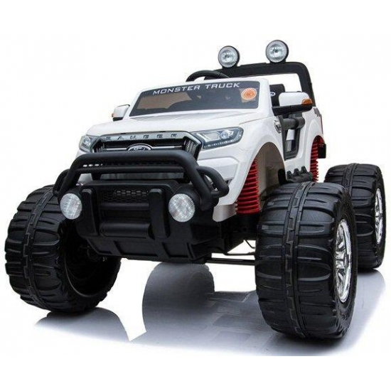 Электромобиль RiverToys Ford Ranger Monster Truck 4WD Белый