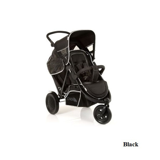 Коляска для двойни и для погодок Hauck Freerider Black