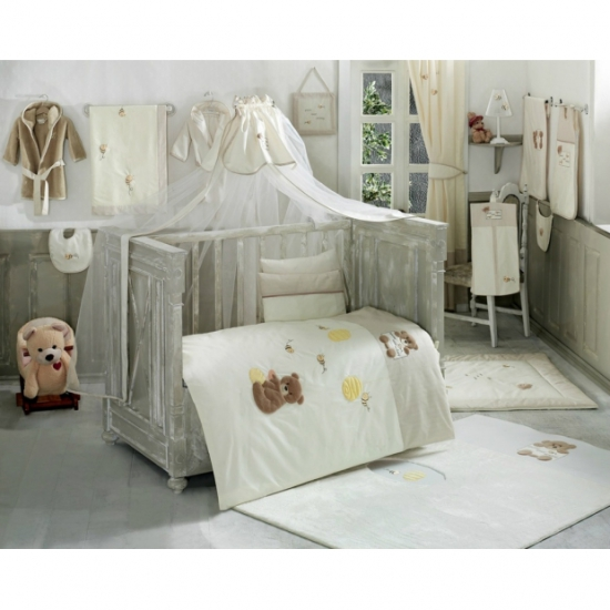 Балдахин Kidboo Honey Bear Linen Белый